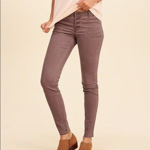 Hollister super skinny size 1 brown jeans low rise